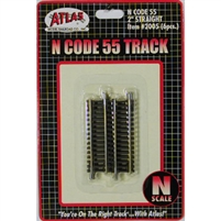 "Atlas N Scale Code 55 Track 2"" Straight (6 Pieces)"