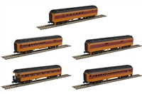 Atlas Trainman N - 60' Passenger Car 5-PK Milwaukee Road