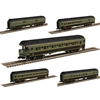 Atlas Trainman N - 60' Passenger Car 5-PK Grand Truck Western