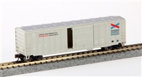 Bachmann Silver N Scale 50' Reefer Chatthooche (sliding door)