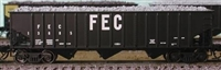 Bluford Shops N Scale 14-Panel 70 Ton 3-Bay Hoppers - FEC - 2 Pack
