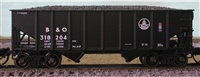 Bluford Shops N Scale 8-Panel 2-Bay Hoppers - B&O, 3 Pack