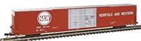 Bluford Shops N Scale 86' Auto Parts Boxcars - Double Door - N & W Billboard