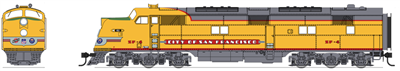 "Broadway Limited N Scale EMD E6 AB Set, UP/C&NW SF-4/SF-5, ""City of San Francisco"", A-unit w/ Paragon3 Sound/DC/DCC, Unpowered B-unit"