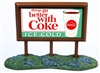 Classic Metal Works Country Billboard - Coca Cola