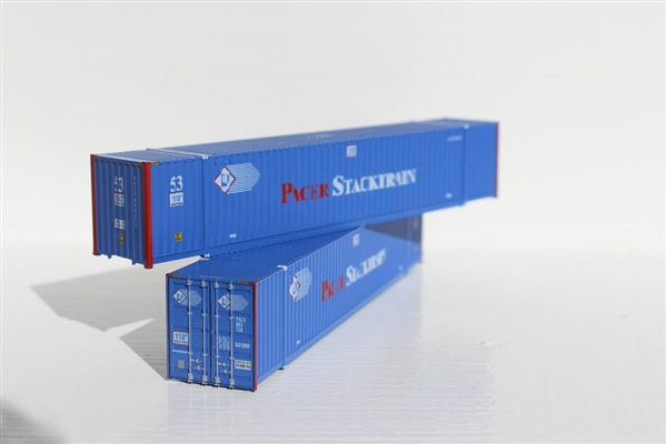 JTC N Pacer Stacktrain 53' High Cube 6-42-6 Corrugated Containers with Magnetic System