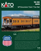 Kato N Scale UP Excursion Train 7 Car Set