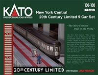 Kato N New York Central 20th Century Limited 9 Car Set