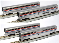 Kato N Gauge AMTRAK SUPERLINER 4-Car Set Phase III (Set A)