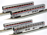 Kato N Gauge AMTRAK SUPERLINER 4-Car Set Phase III (Set B)
