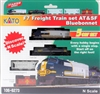 "Kato N Scale F7 Freight Train Set AT&SF ""Bluebonnet"""