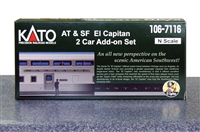 "KATO N Scale Santa Fe ""El Capitan"" 2 Car Set"