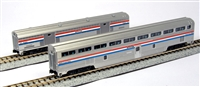 Kato N Scale AMTRAK Stepdown Coach and Baggage Phase III