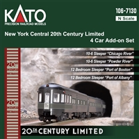 Kato N New York Central 20th Century Limited 4 Car Add-On Set