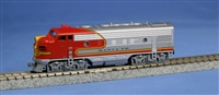 KATO N Scale EMD F7A Santa Fe (Red) Warbonnet #300, W/ TCS DCC