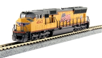 Kato Kobo N Scale SD70M UP #4843 w/ TCS DCC