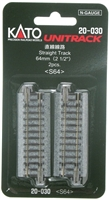 "Kato N Scale Unitrack 20030 | 2-1/2"" Straight 2 PK"