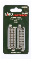 "Kato N Scale Unitrack 20040, 62mm (2 7/16"") Straight Track [4 pcs]"