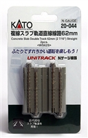 "Kato N Scale Unitrack 20044, 2-7/16"" Concrete Slab Double Track 2 PK"