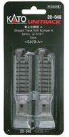 "Kato N Scale Unitrack 2-7/16"" Straight Bumper A  (2pcs)"