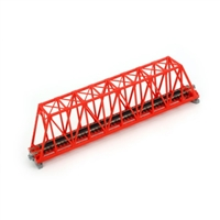 "Kato N Scale Unitrack 20430, 248mm (9 3/4"") Single Track Truss Bridge, Red"
