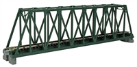 "Kato N Scale Unitrack 20431, 248mm (9 3/4"") Single Track Truss Bridge, Green"