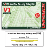 Kato N Scale V1 Mainline Passing Siding Set