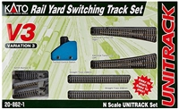 Kato N Scale V3 Rail Yard Switching Set