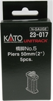 "Kato N Scale Unitrack 23017, Piers 50mm (2"") 5 Pcs"
