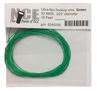 NCE Green Wire, 32AWG, 10 feet.