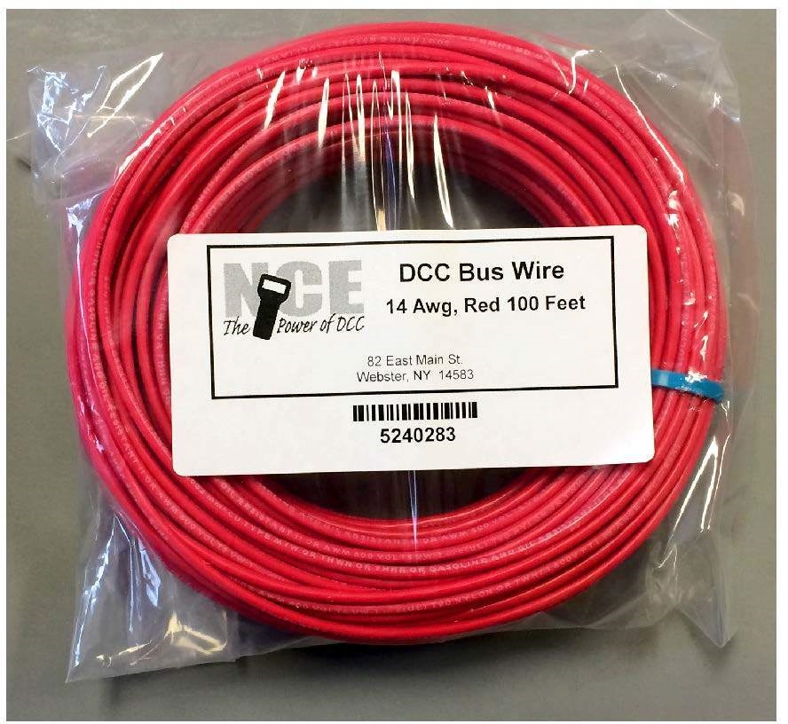 nce mbwr100 dcc main bus wire (red), 14awg larger photo