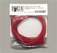 NCE PDWR10 Power Drop Wires (Red), 22AWG