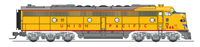 Broadway Limited N Scale EMD E9 A-unit, UP #950A, Yellow & Gray, Paragon3 Sound/DC/DCC