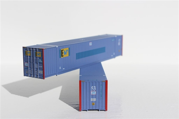 JTC N Scale 402001 Hapag LLoyd 40/' Containers Corrugated Sides 2 Pk
