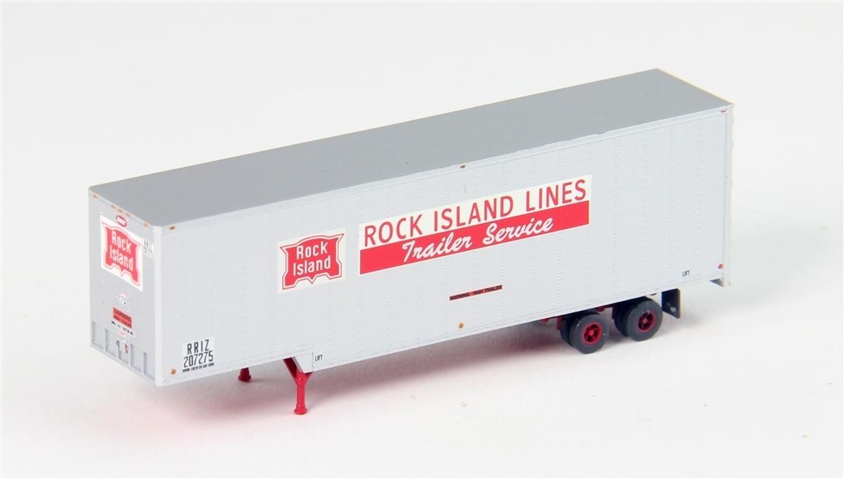 Trainworx N 40\' Drop Frame Trailer - Rock Island #207282